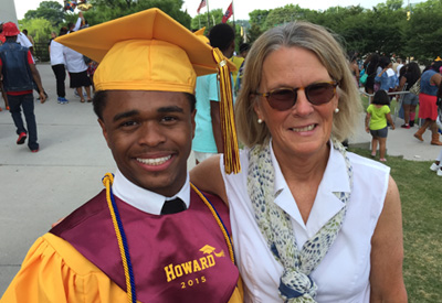 Domanique and Robyn at his graduation from Howard