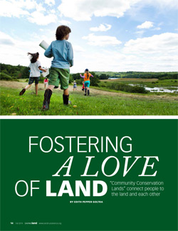 Fostering a love of land - LTA magazine cover