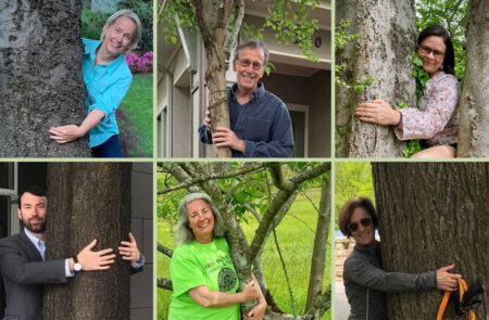 Hug tree on Earth Day 2020