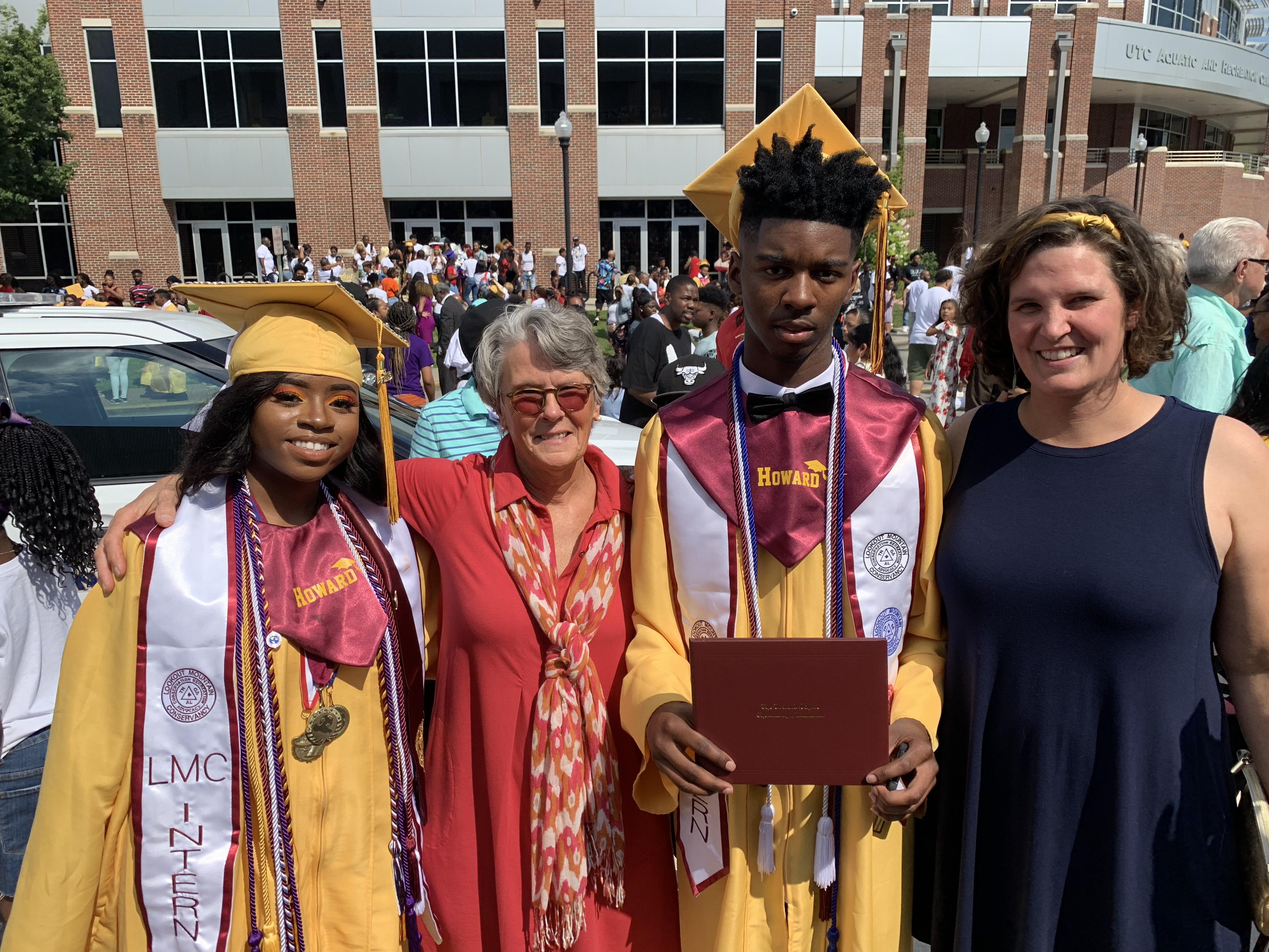 LMC staff with graduating seniors