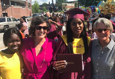 Ashley, Robyn, and a former Intern with Laniesha