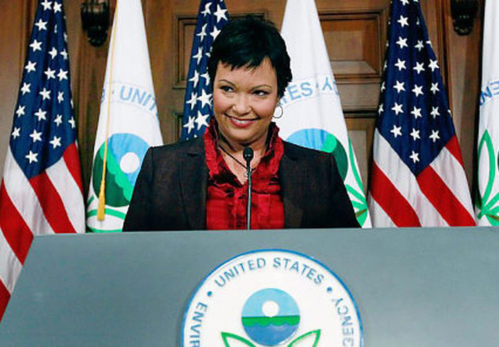 Lisa Jackson speaking as EPA administrator