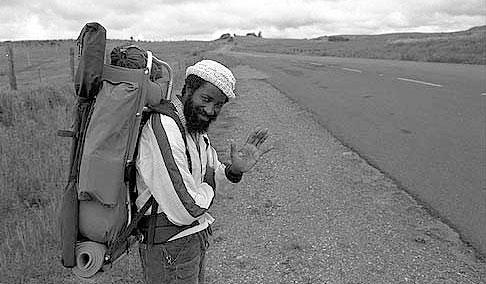 John Francis on roadside