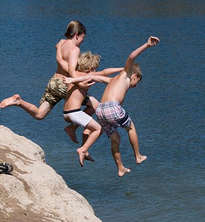 jumping rocks